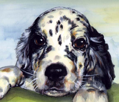 Puppy Painting Watercolor Carol Wells